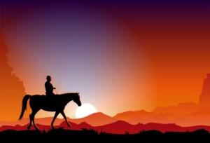 horse-sunset